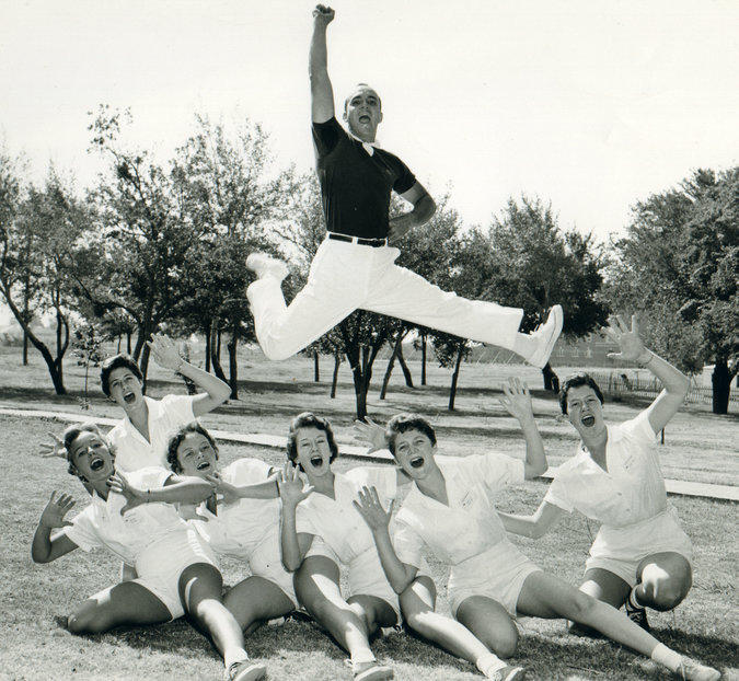 Lawrence Herkimer demonstrated the Herkie jump in the 1950s.