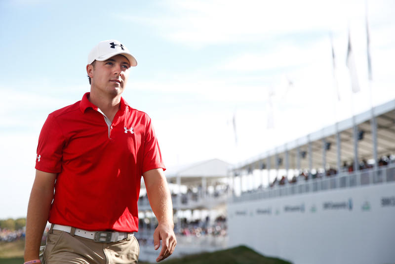 In 2013,  Jordan Spieth walked off the 18th green after the third round of the BMW Championship at Conway Farms Golf Club in Illinois.