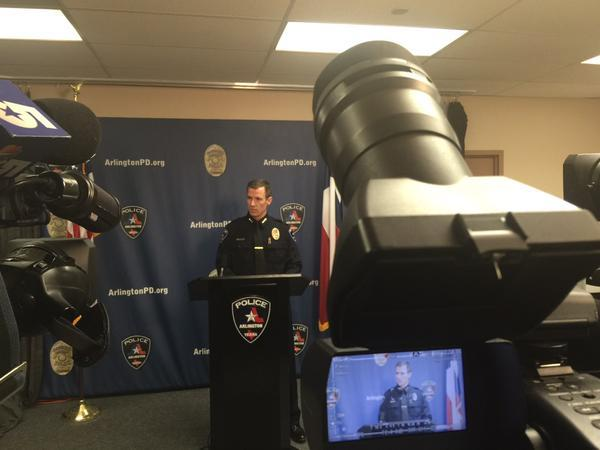 Arlington police chief Will Johnson talked with the media about the officer-involved shooting.