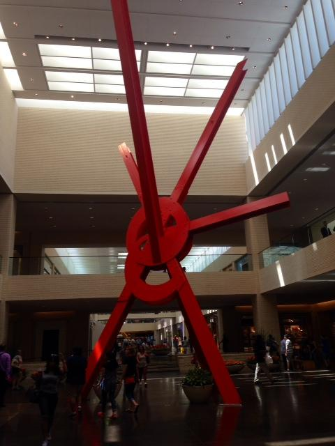 NorthPark is known for its art collection as well as its shopping. This is the famous Ad Astra by Mark di Suvero.
