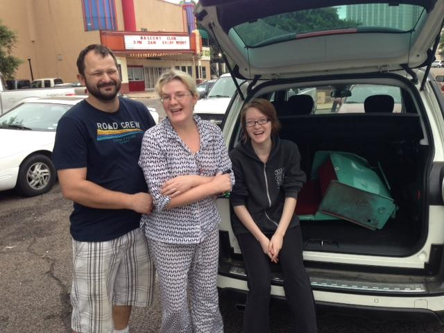The Weadons packed two seats into their car Thursday, determined to display them at home.
