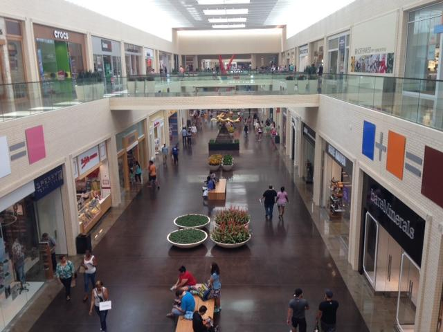 The view from the second story of NorthPark.