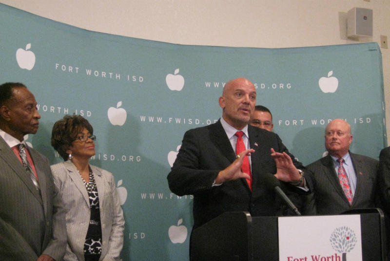 This week, Fort Worth ISD Superintendent Kent P. Scribner announced major changes, including eliminating several high-level positions and reassigning staff to low-performing schools.