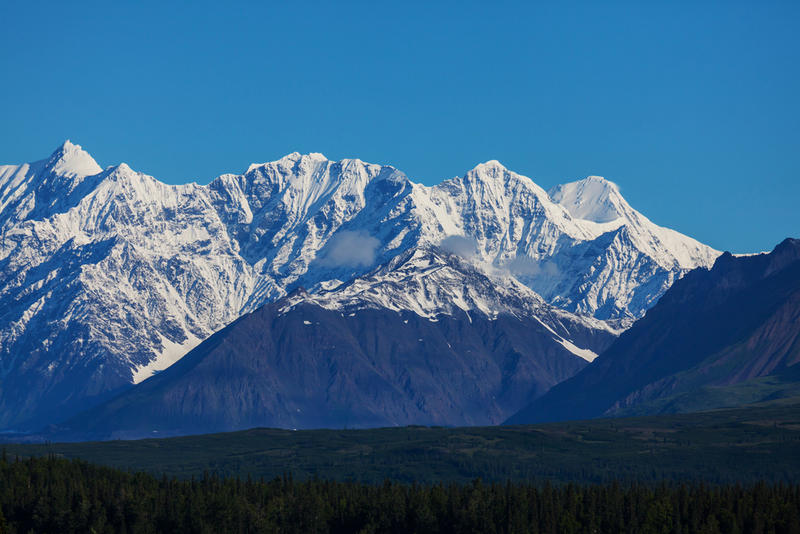 Mount McKinley in Alaska. The state is attracting lots of Texans.