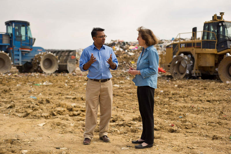 Sahadat Hossain, a UT-Arlington professor, is using technology to update the city of Denton landfill.