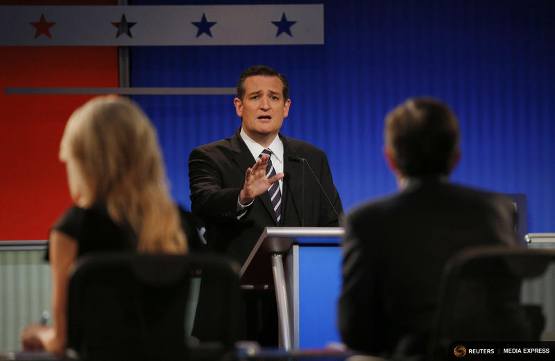 U.S. Sen. Ted Cruz during a GOP presidential candidates' debate in August.