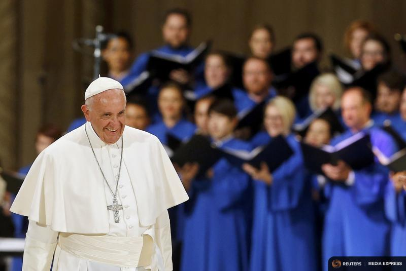 Pope Francis was in Washington, D.C., on Thursday.