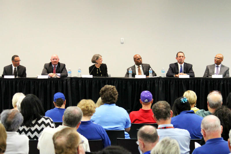 Six candidates to be Fort Worth's top law enforcement official answered community-sourced questions at a public forum on Thursday.