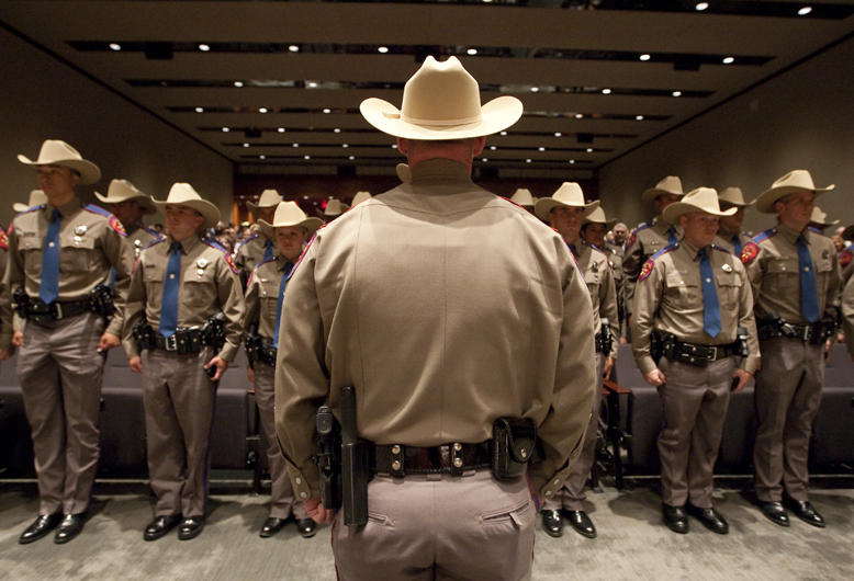 A Texas Department of Public Safety recruit graduation class in 2011 in Austin.
