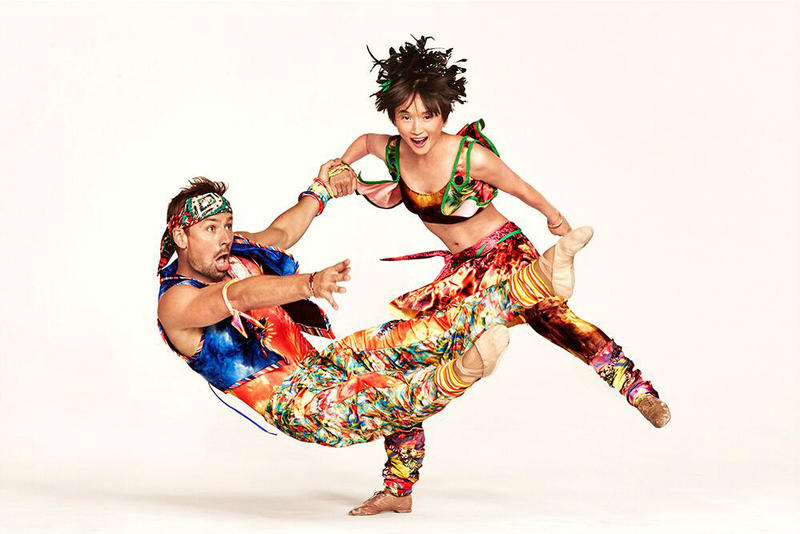 "Twyla Tharp dancers in ""Yowzie,"" one of two premieres presented in Dallas this weekend."