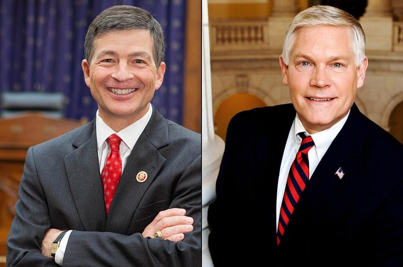 U.S. Rep. Jeb Hensarling, left, and U.S. Rep. Pete Sessions.