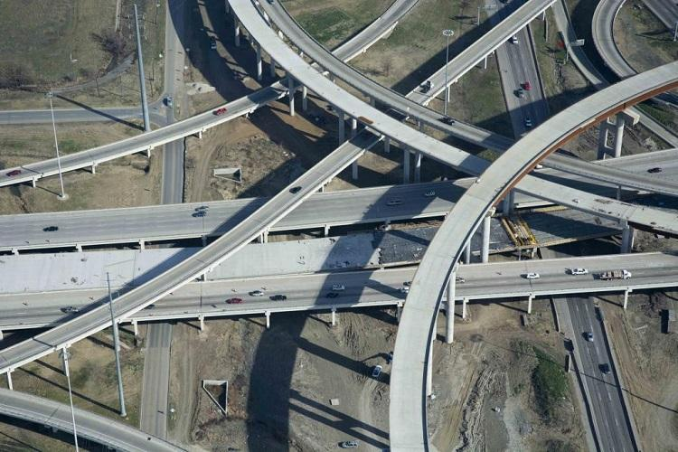 The I-635 view from above in February, 2014.
