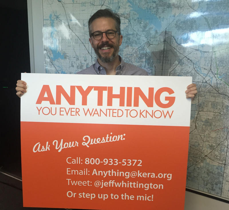Look for this guy with the glasses (Jeff Whittington) and the bright orange sign at the State Fair of Texas on Friday.