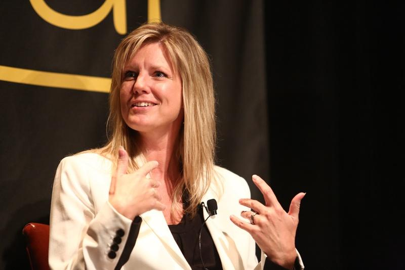 Julie McCarty during the 'What Does The Tea Party Want?' keynote session of The Texas Tribune Festival in 2013.