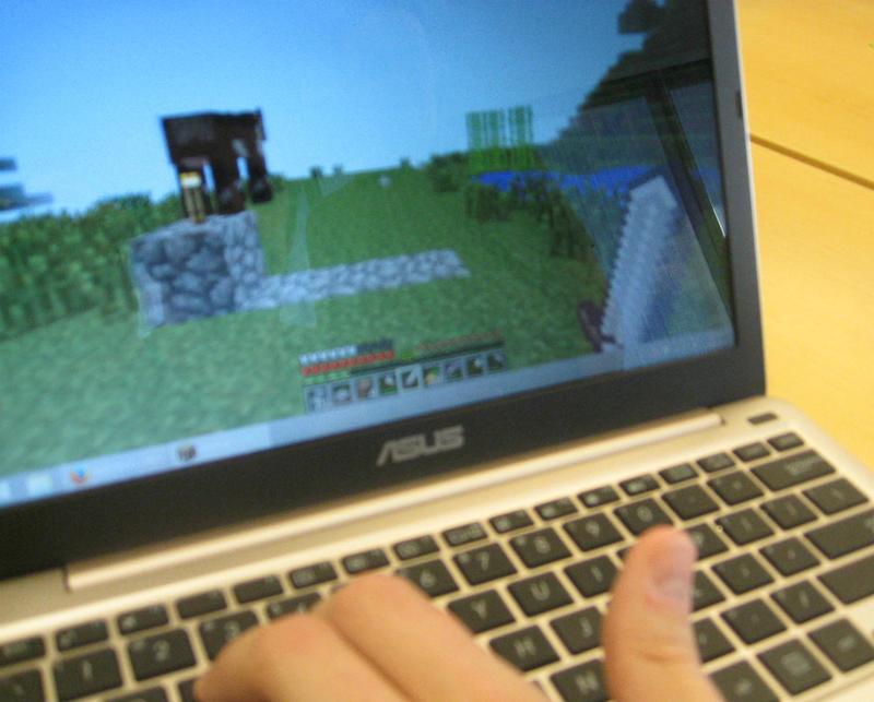 Inside Polycraft World, the Minecraft variation built by UTD .