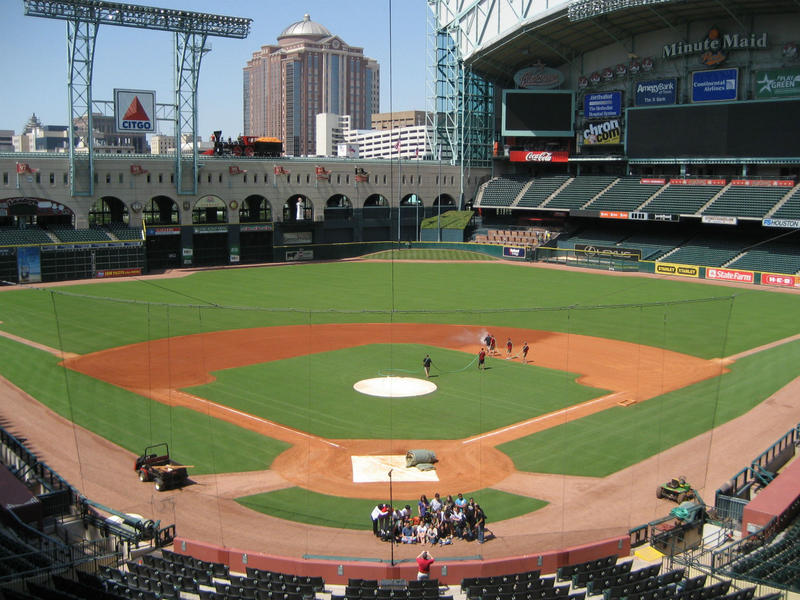 The Houston Astros play at Minute Maid Park.