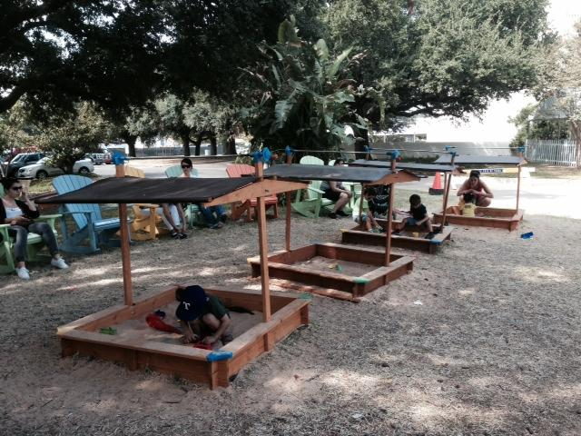 The Kids Boardwalk is completely free. You can play in shaded sandboxes, watch shows, do crafts and play giant chess.