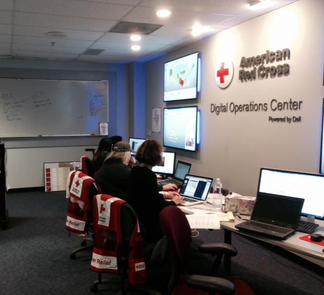 The Digital Operations Center at the Red Cross in Dallas