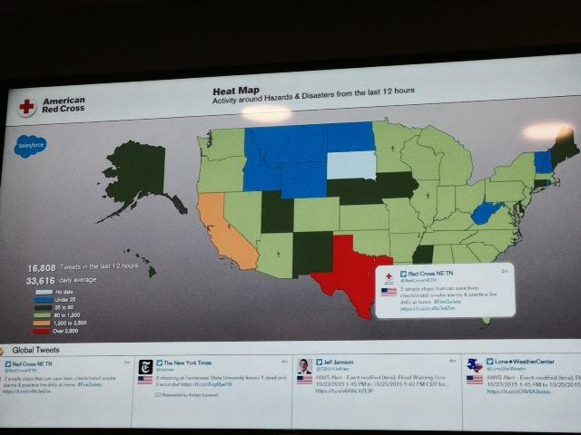 The Heat Map. Today Texas is red because everyone is tweeting about one thing, the weather.