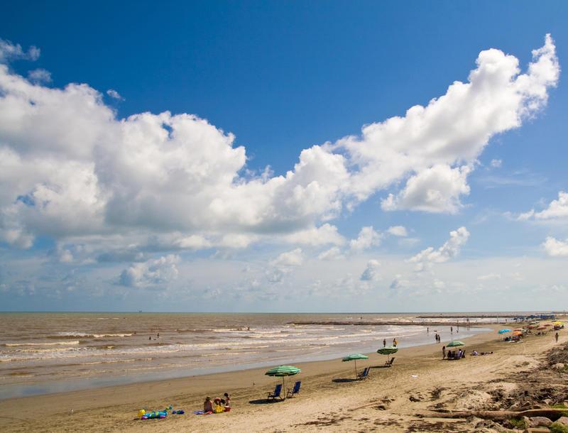A beach in Galveston.