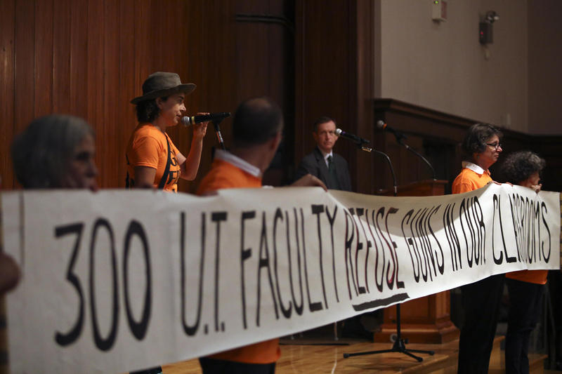 UT Austin faculty members spoke out against the state campus-carry law at a forum hosted by the university earlier this week.