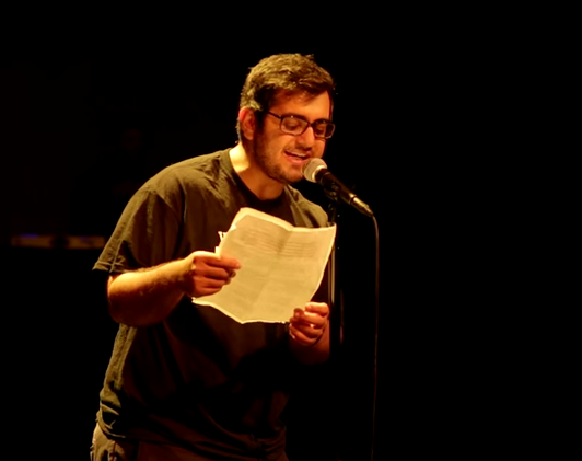 Amir Safi performed 'Ode to Whataburger' at the Texas Grand Slam Poetry Festival.