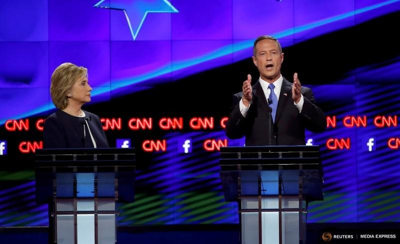 Former Maryland Governor Martin O'Malley spoke during a Democratic candidates debate in October in Las Vegas.