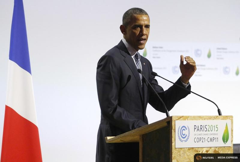 President Obama delivered a speech Monday on the opening day of the World Climate Change Conference in Le Bourget, near Paris.