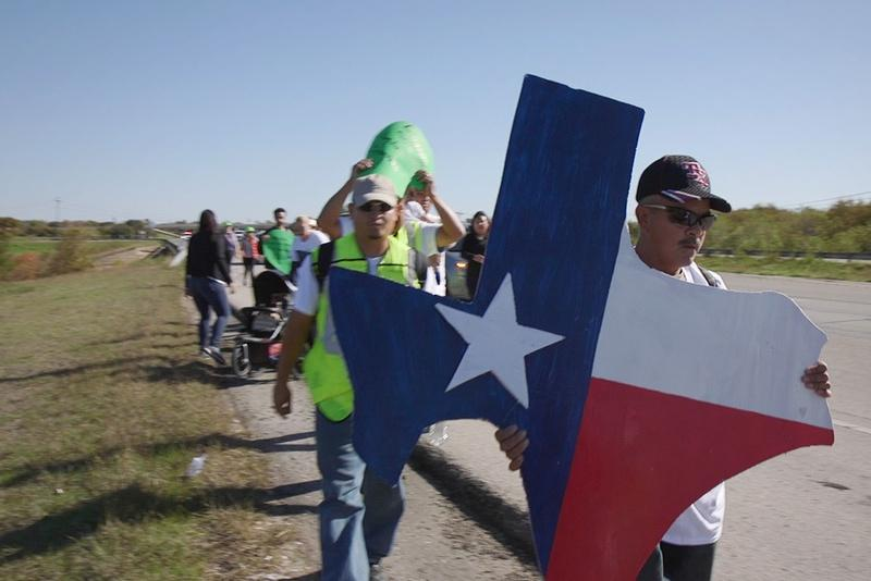 Immigrants and activists begin a 37-mile march to Austin on Thursday to show their support for immigration reform.