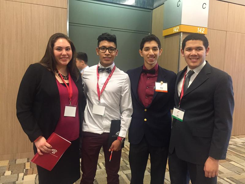 These students were in Dallas over the weekend for a National Hispanic Institute conference. The organization teaches them skills to become future leaders. From left: Samantha Cordier, Fernando Chavez, Omar Quintana and Jose Torrealba.