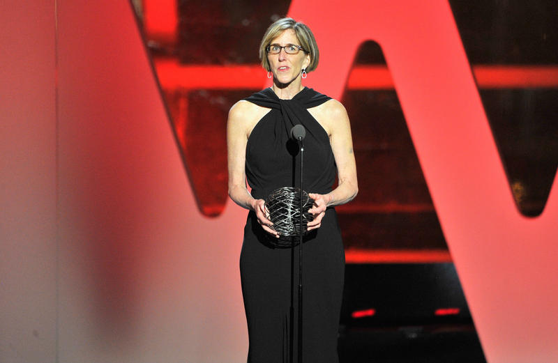 Professor Helen Hobbs speaks onstage during the 2016 Breakthrough Prize Ceremony on Sunday in Mountain View, California.
