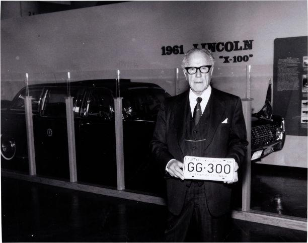 Willard Hess held a license plate that was on the limousine carrying President Kennedy when he was killed in Dallas.