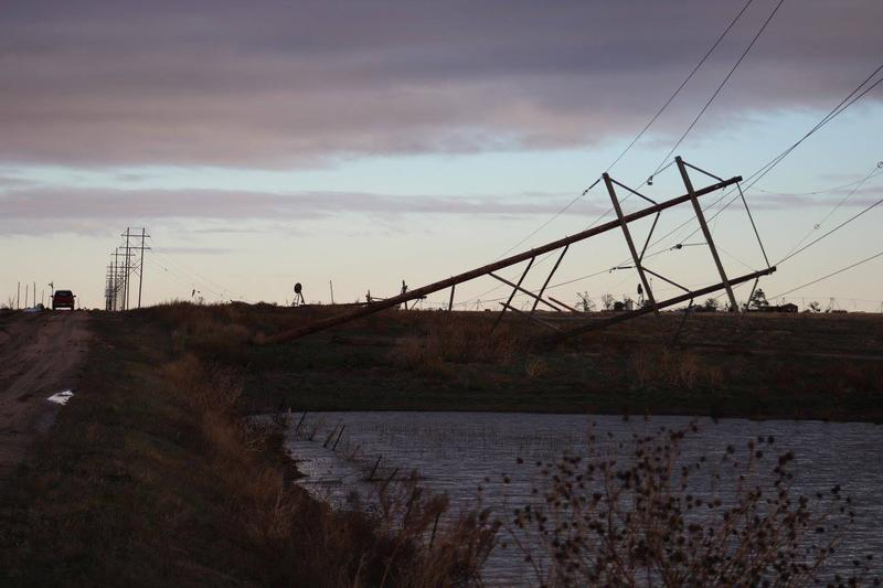 Tornadoes in the West Texas town of Pampa downed power lines and caused a number of gas leaks.