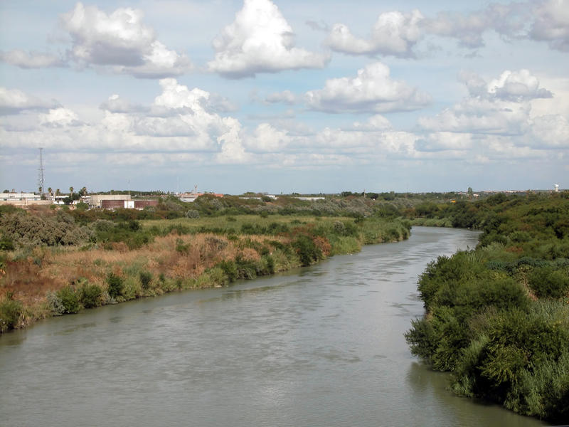 A view of the United States-Mexico border in Laredo.