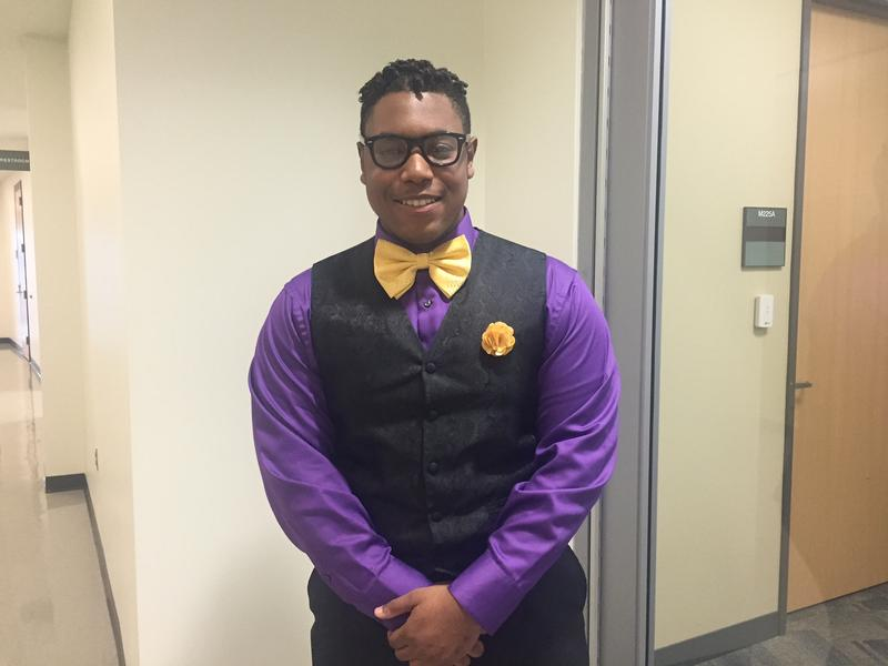 WaTerron Evans is a first-year student at Cedar Valley College in Lancaster. A new federal grant aims to boost the number of African-American students who go into STEM-related careers. Evans is studying health science.