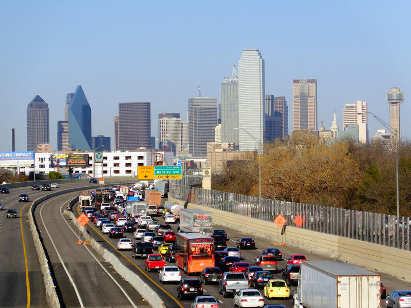 Traffic in Dallas. New ozone standards aim to crack down on pollution coming from factories, power plants -- and vehicle tailpipes.