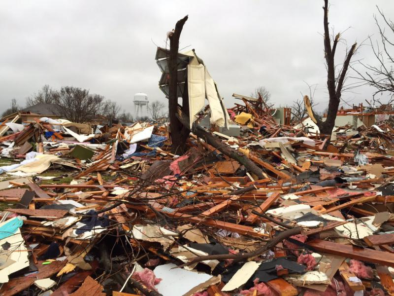 Damage from Rowlett indicates at least an EF3 tornado hit the area, the National Weather Service says.