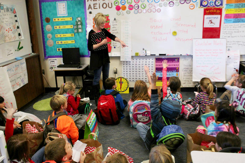 Some students at Eagle Mountain Elementary School are having recess four times a day. Donna McBride, a first grade teacher, has noticed a difference in her students.