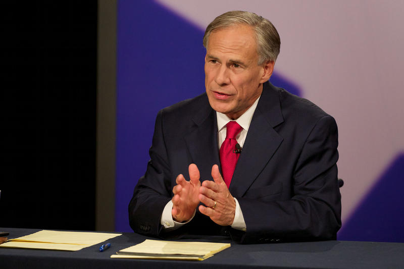 Gov. Greg Abbott during a governor's debate in 2014.