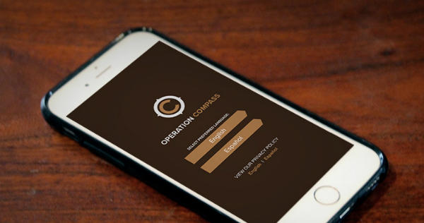 A smartphone app, Operation Compass, aims to help report human trafficking.