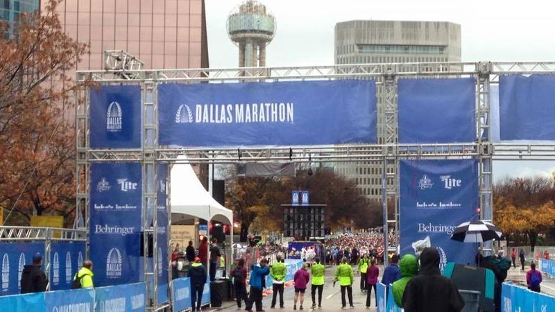 A Dallas chiropractor won the Dallas Marathon Sunday.