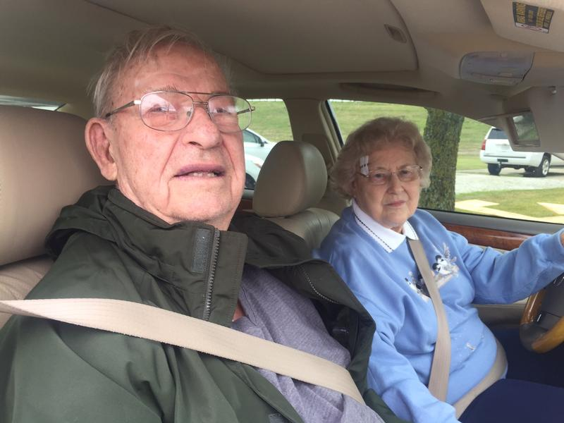 "Joyce and Walker Mills survived the storm that totaled their home in the Collin County town of Copeville. Joyce, who's 84, said the tornado sounded like a ""whole big gush of wind."""