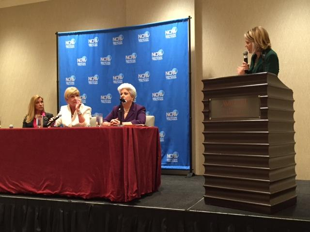 From left, Mayor Beth Van Duyne of Irving, Betsy Price of Fort Worth and Nelda Martinez of Corpus Christi speak about governing diverse, fast-growing cities at a luncheon hosted by the National Center for Policy Analysis.