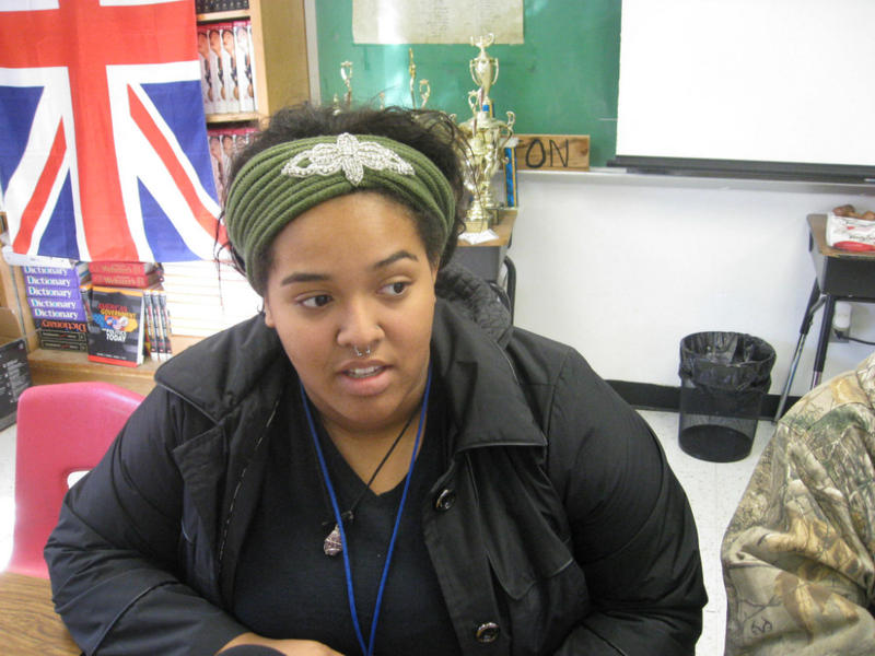 Kyra Ughulu's an 11th grader in Mr. Harrington's AP History class at Seagoville High School. She's ready for school threats to end.