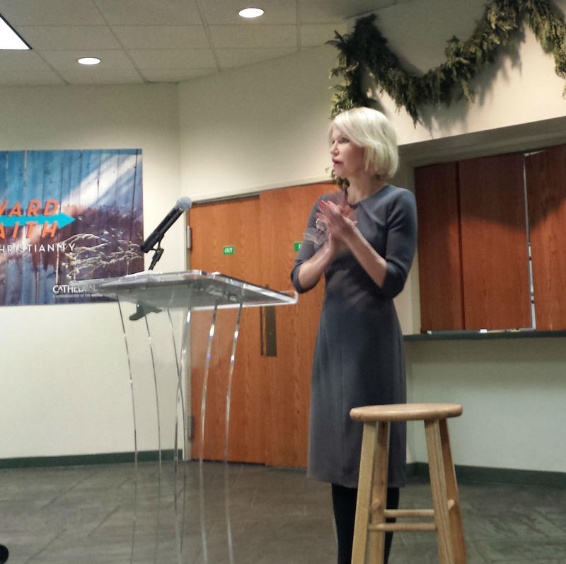 Dallas County District Attorney Susan Hawk addressed a town hall meeting in Oak Lawn on Monday night.