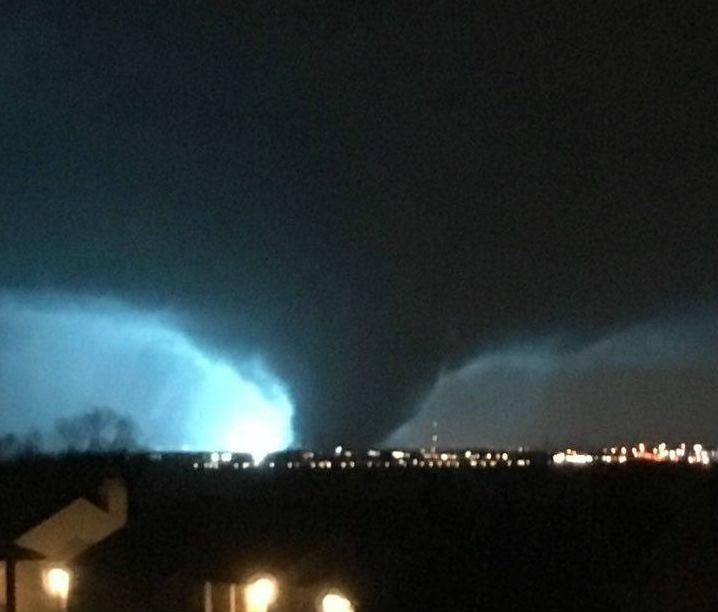 A look at the tornado that caused damage in Rowlett Saturday night.