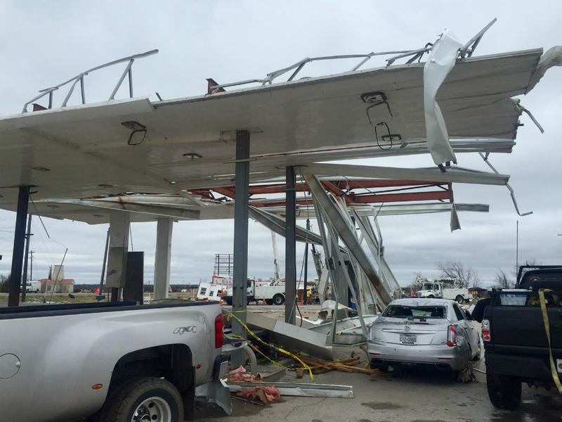 Structure and vehicle victims of the weekend tornadoes
