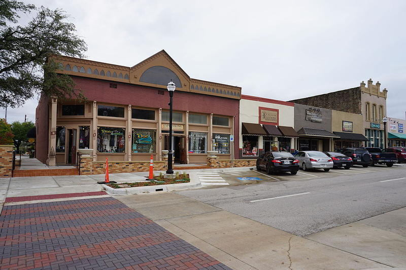 Rusk Street in Rockwall. Rockwall County has the lowest poverty rate in Texas.