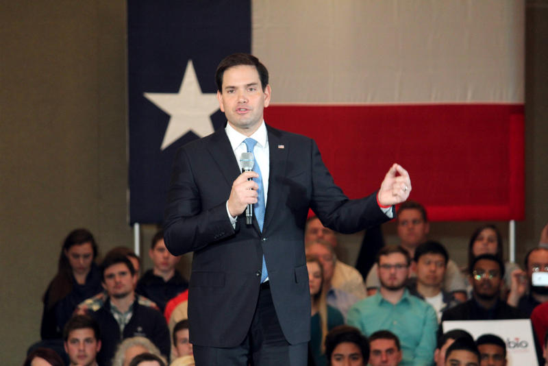 Florida Sen. Marco Rubio told a crowd in Dallas that the US should restrict immigration because of a threat from ISIS.