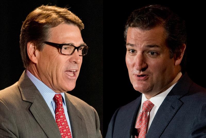 Former Gov. Rick Perry and U.S. Sen. Ted Cruz.
